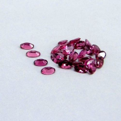 Natural Pink Tourmaline 5x3mm 25 Pieces Lot Faceted Cut Oval Pink Color Top Quality Loose Gemstone