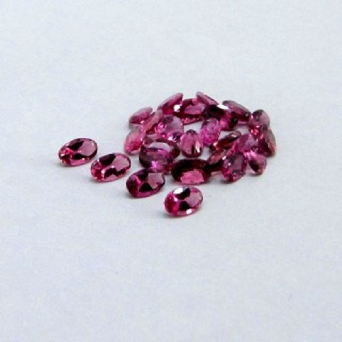 Natural Pink Tourmaline 5x3mm 50 Pieces Lot Faceted Cut Oval Pink Color Top Quality Loose Gemstone