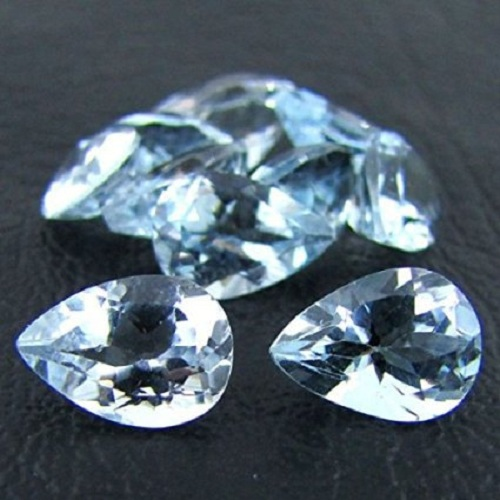Natural Sky Blue Topaz 7x5mm 100 Pieces Lot Faceted Cut Pear Blue Color - Natural Loose Gemstone