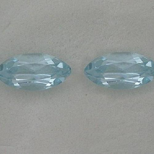 Natural Sky Blue Topaz 5x10mm 10 Pieces Lot Faceted Cut Marquise Blue Color - Natural Loose Gemstone