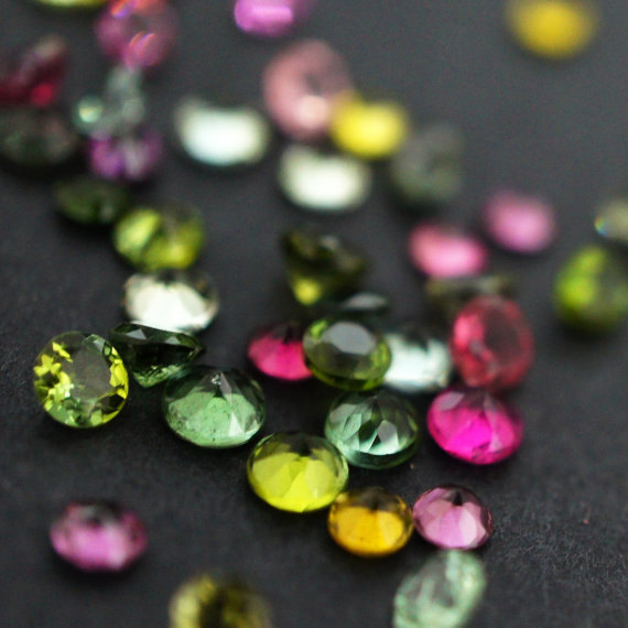 Natural Multi Tourmaline 4mm 10 Pieces Lot Faceted Cut Round Multi Color - Natural Loose Gemstone