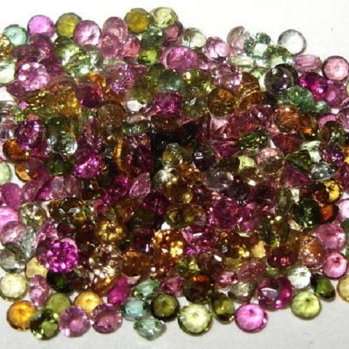 Natural Multi Tourmaline 4mm 25 Pieces Lot Faceted Cut Round Multi Color - Natural Loose Gemstone