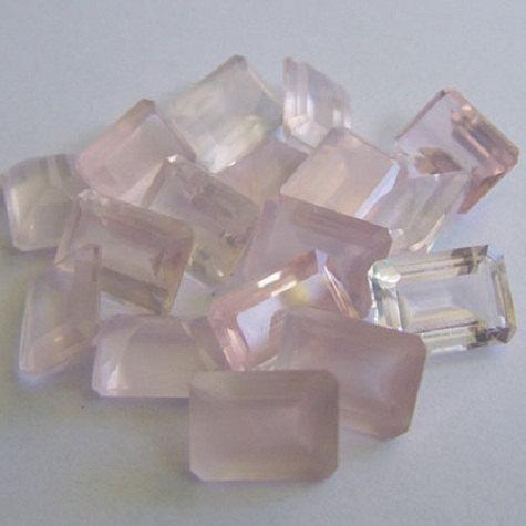 Natural Rose Quartz - 8x10mm 100 Pieces Lot Faceted Cut Octagon Pink Color - Natural Loose Gemstone
