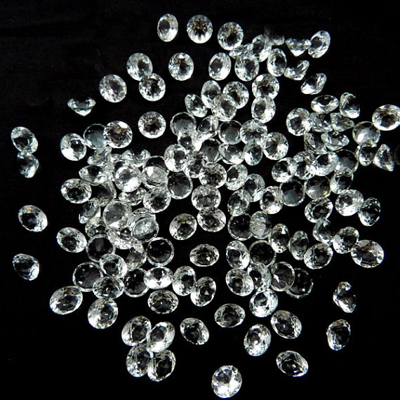 Natural White Topaz Calibrated Size 6mm 100 Pieces Lot Faceted Cut Round Natural - Loose Gemstone