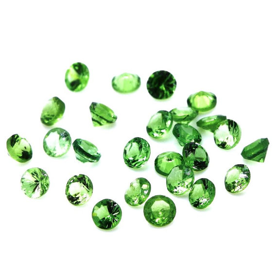 5mm Natural Tsavorite Faceted Cut Round 5 Pieces Top Quality Green Color - Loose Gemstone Wholesale Lot For Sale