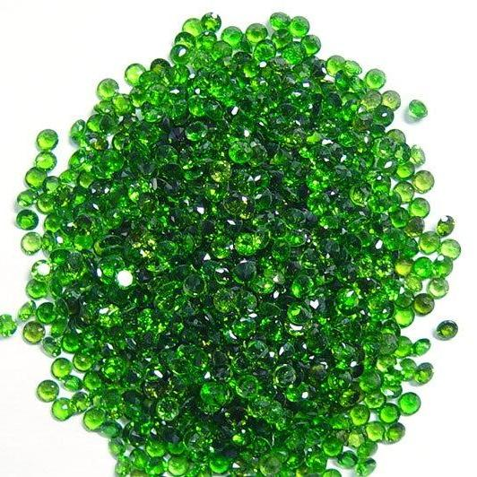 Natural Chrome Diopside- 2mm 50 Pieces Lot Faceted Round Calibrated Size Green Color - Loose Gemstone