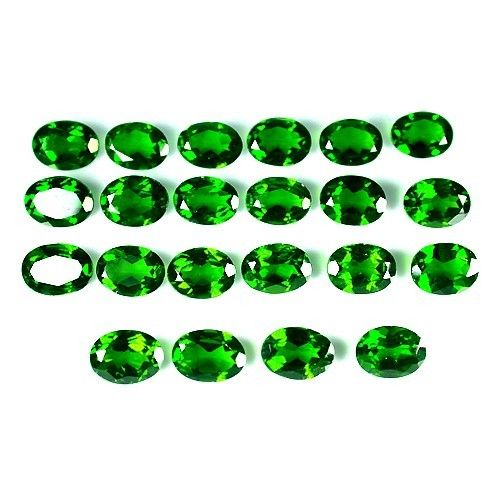 Natural Chrome Diopside- 3x4mm 25 Pieces Lot Faceted Oval Calibrated Size Green Color - Loose Gemstone