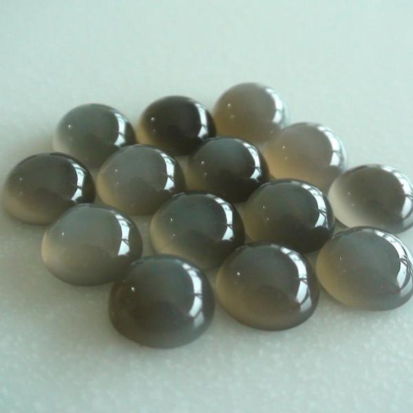 12mm Natural Gray Moonstone Cabochon Round 10 Pieces Lot Top Quality Gray Color Loose Gemstone Wholesale Lot For Sale