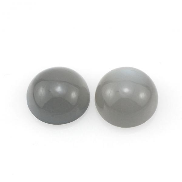 13mm Natural Gray Moonstone Cabochon Round 1 Pieces Lot Top Quality Gray Color Loose Gemstone Wholesale Lot For Sale
