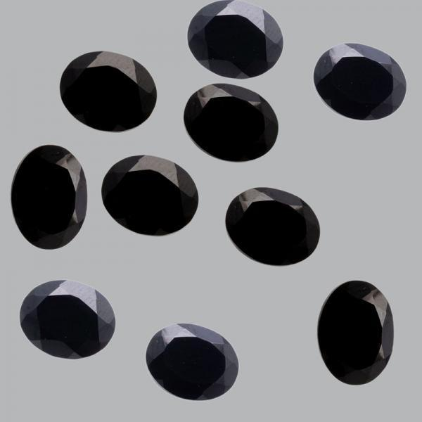 8x6mm Natural Black Spinel Faceted Cut Oval 10 Pieces Lot Top Quality Black Color Loose Gemstone Wholesale Lot For Sale